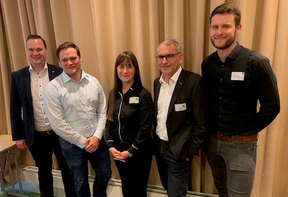 Der neue YP-Vorstand (v. l.): Sebastian Zeisig, Jörn Ermel, Anni Ratz, Kai Zumpe und Stephan Seifert. Nicht abgebildet: Daniel Eid