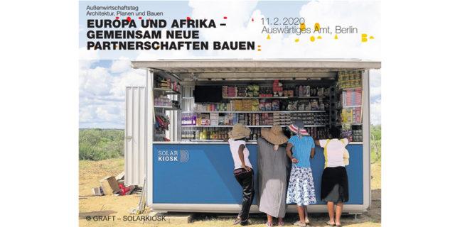 Außenwirtschaftstag Architektur, Planen und Bauen 2020 blickt nach Afrika