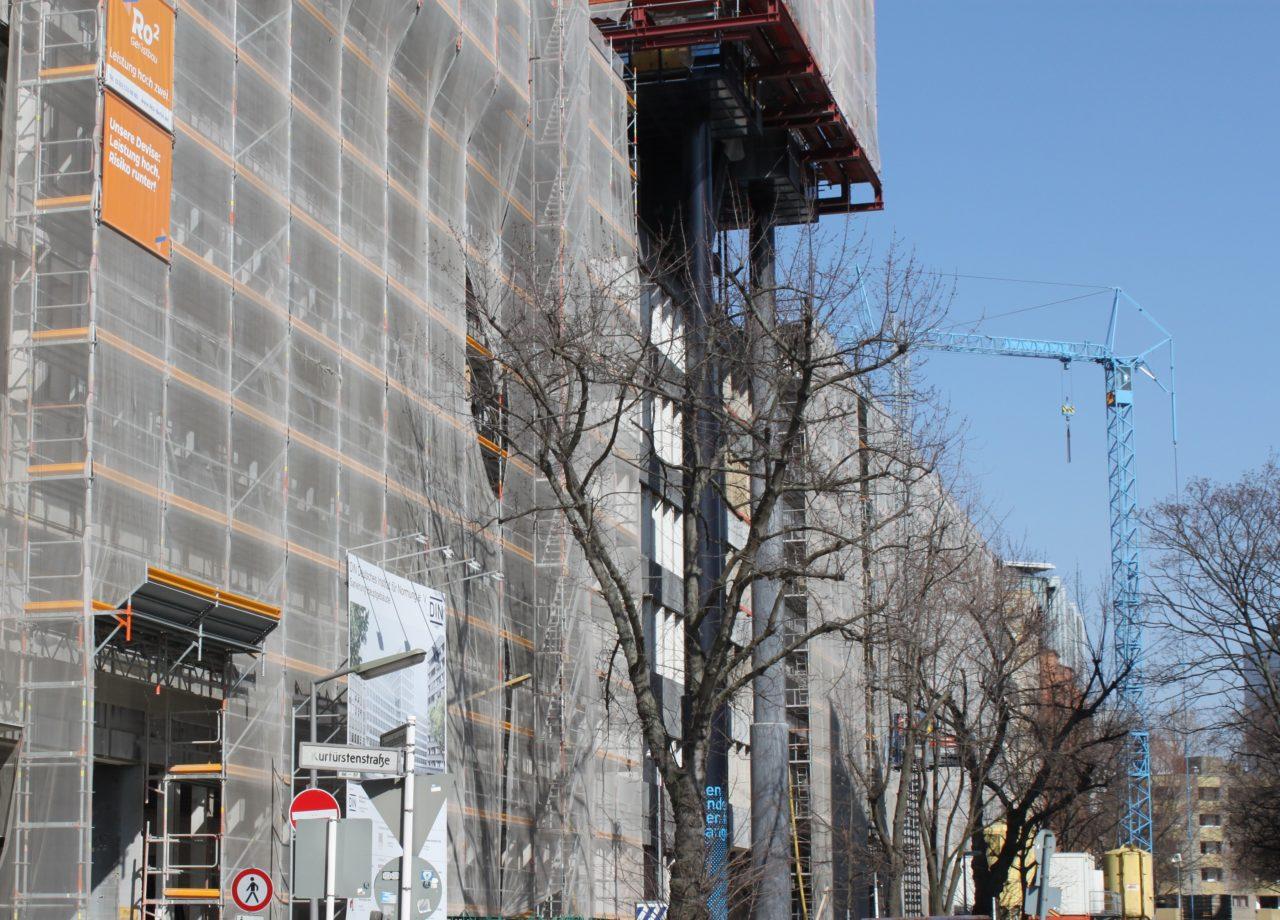 Berliner Baustelle im März 2020