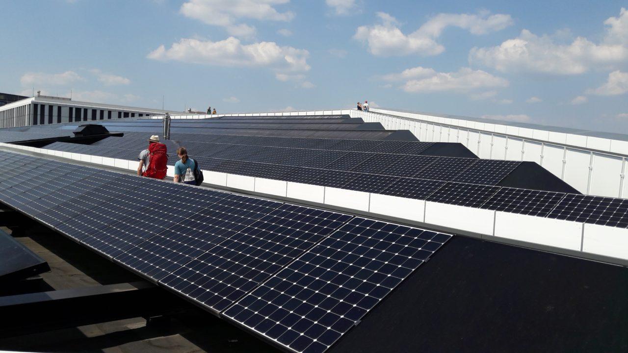 Solardach des Futuriums in Berlin